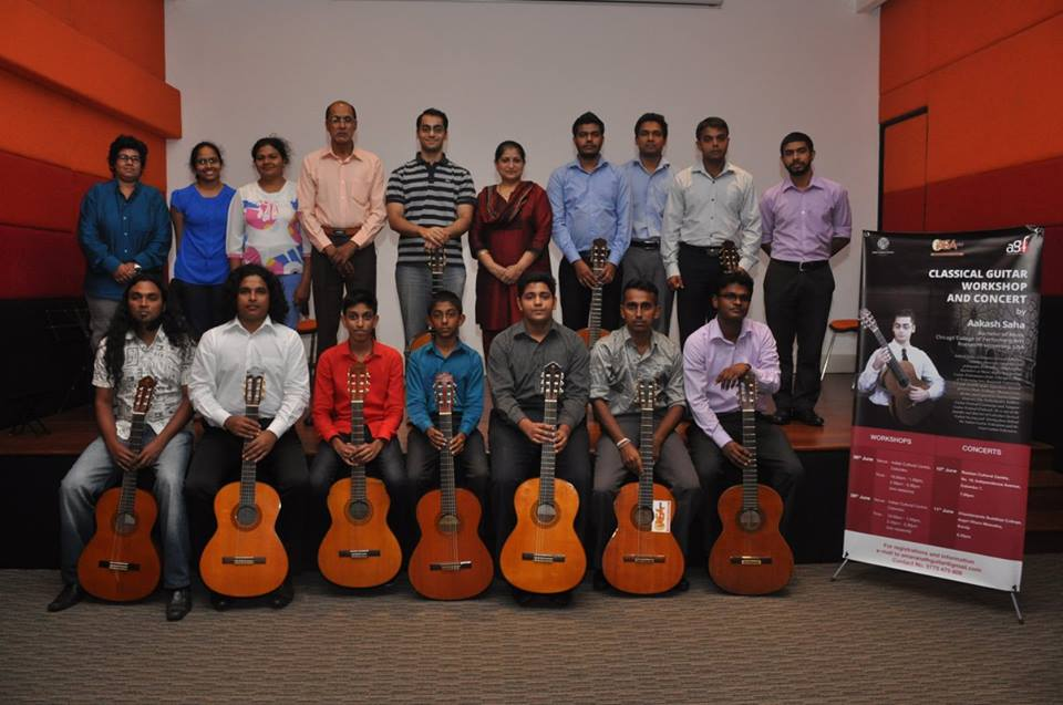Classical Guitar Workshop at the Indian Cultural Centre, Colombo
