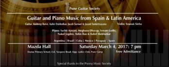 PGS concert: Guitar & Piano music from Spain and Latin America