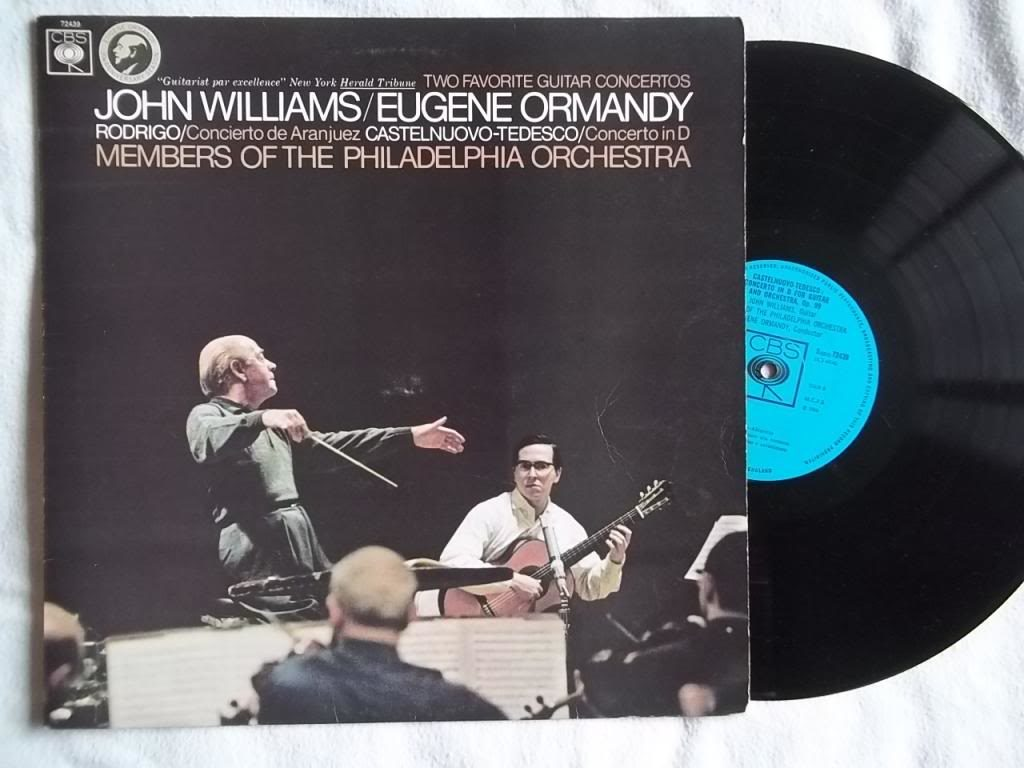 Record cover of John Williams (guitarist) performing with the Philadelphia Orchestra