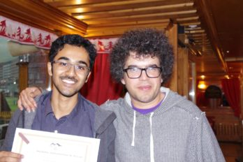 At Tignes: Kabir Dabholkar with Judicael Perroy